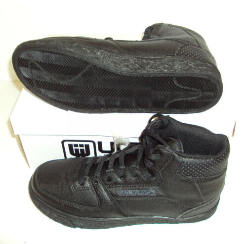 Urban Logik Boys/' New Black Casual Hi Top Junior Trainers Shoes Adult Size 5