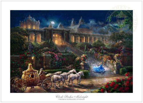 Thomas Kinkade Studios Clock Strikes Midnight 18 x 27 LE G//P Paper Disney