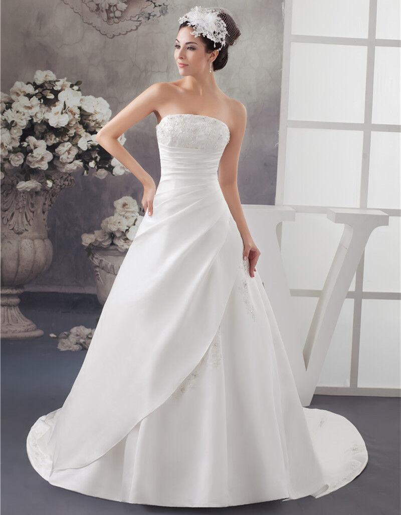 2019 Neu Weiß Elfenbein Hochzeitskleid Brautkleid Gr 34 36 38 40 42 44     | Der Schatz des Kindes, unser Glück  | Schön  | In hohem Grade geschätzt und weit vertrautes herein und heraus