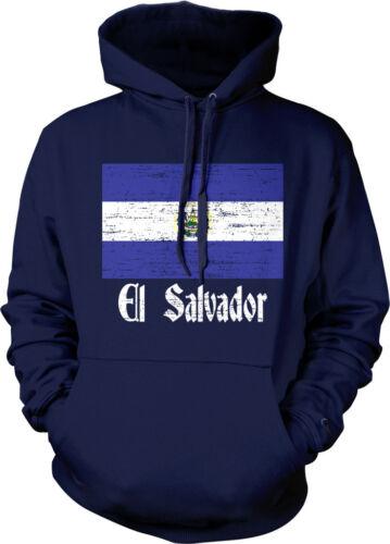 Distressed El Salvador Country Flag Pride El Salvadoran Hoodie Pullover