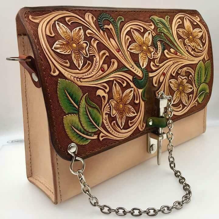 Ladies Beautiful Antique Design Good Leather Hand Bag Best Christmas Gift