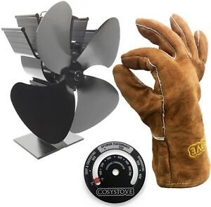 Heat-Powered-Stove-Top-Fan-Thermometer-Gloves-Log-Wood-Burner-Cosystove
