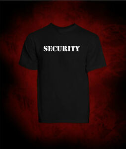 T-Shirt SECURITY Maglietta Sicurezza - TShirt Manica Corta Nera in Cotone UNISEX