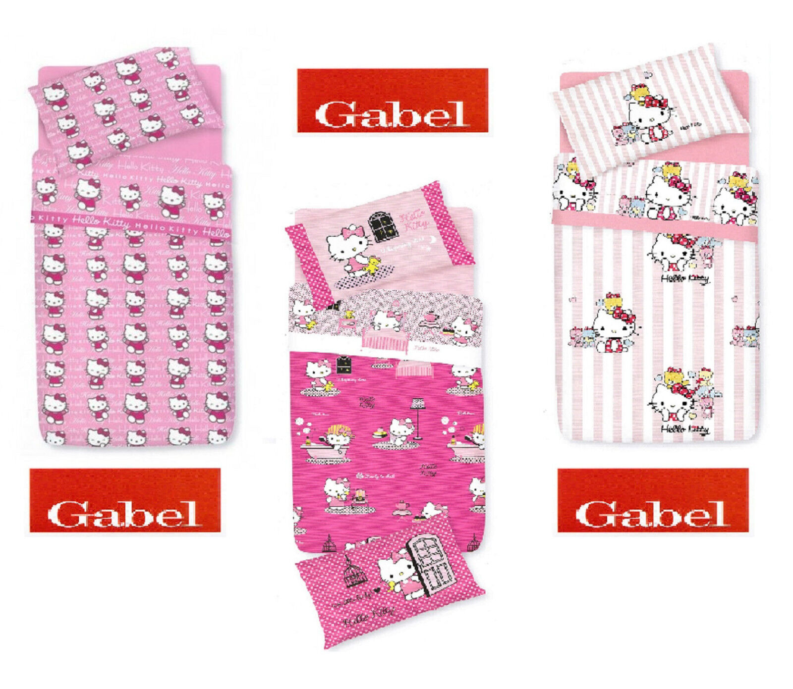 Complete Duvet Cover Printed Single 1 Square Hello Kitty Gabel Cotton Ebay