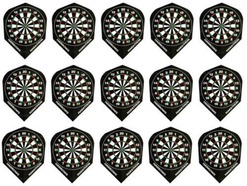 Black Dartboard Ship W//Tracking 5 Sets Harrows Marathon Standard Dart Flights