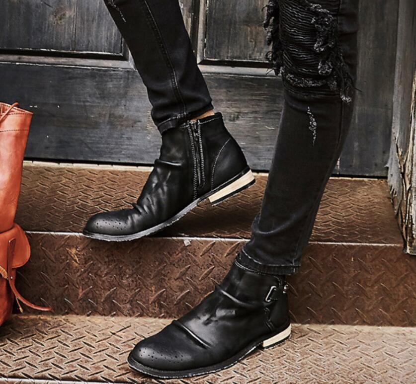 Retro Retro Retro Cowboystiefel Herrenschuhe Stiefel Stiefeletten Ankle Stiefel Mode Gr.39-44 03a9e9