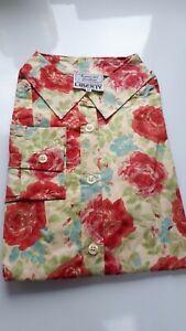 Size 12 Liberty print Tana Lawn Thomas /& Jonathan l//s classic shirt blouse ID160