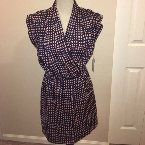 NWT Maison Jules Sleeveless Tab Sleeve Mini Dress SzS