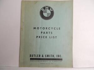 Vintage 1960 Bmw Motorcycle Parts Price List Butler And Smith Book L2536 Ebay