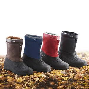 10342906c8 Image is loading Mens-Ladies-Wellie-Boot-Showerproof-Winter-Shoe-Fully-