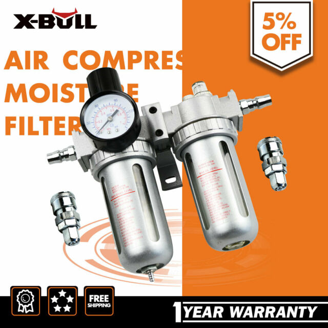 X-BULL Air Compressor Moisture Water Trap Filter Regulator Separator with Mount