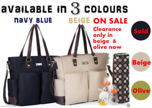 Carry-All-baby-diaper-nappy-changing-bag-2-pcs-beige-olive