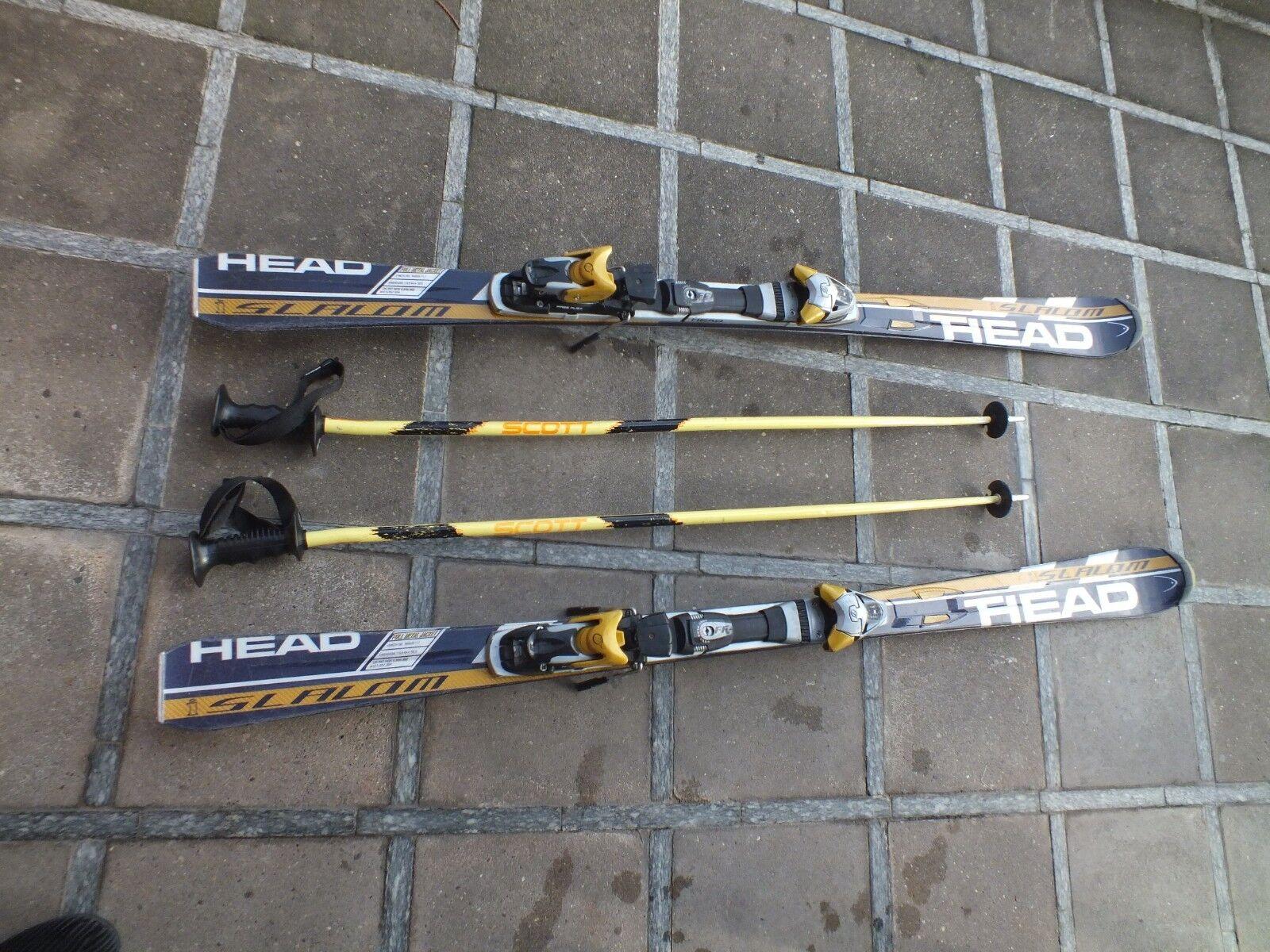 CARVER CARVING SKI HEAD 180cm intelligence mit Skistöcke  inkl. Bindung Freeflex