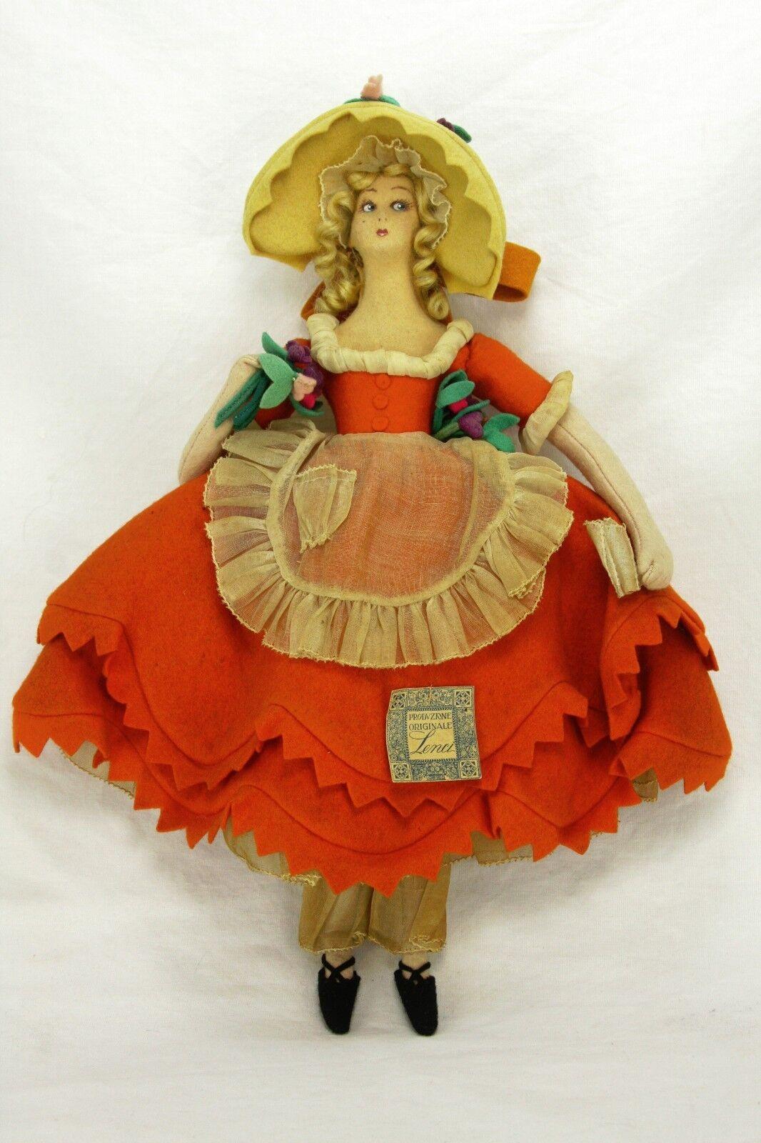 Antiguo vintgae Rara Miniatura Lenci Boudoir Doll ca1920