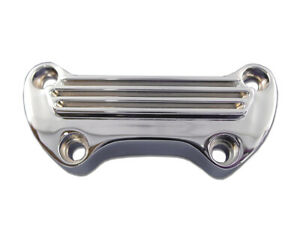 Finned Riser Top Clamp Chrome,for Harley Davidson,by V-Twin