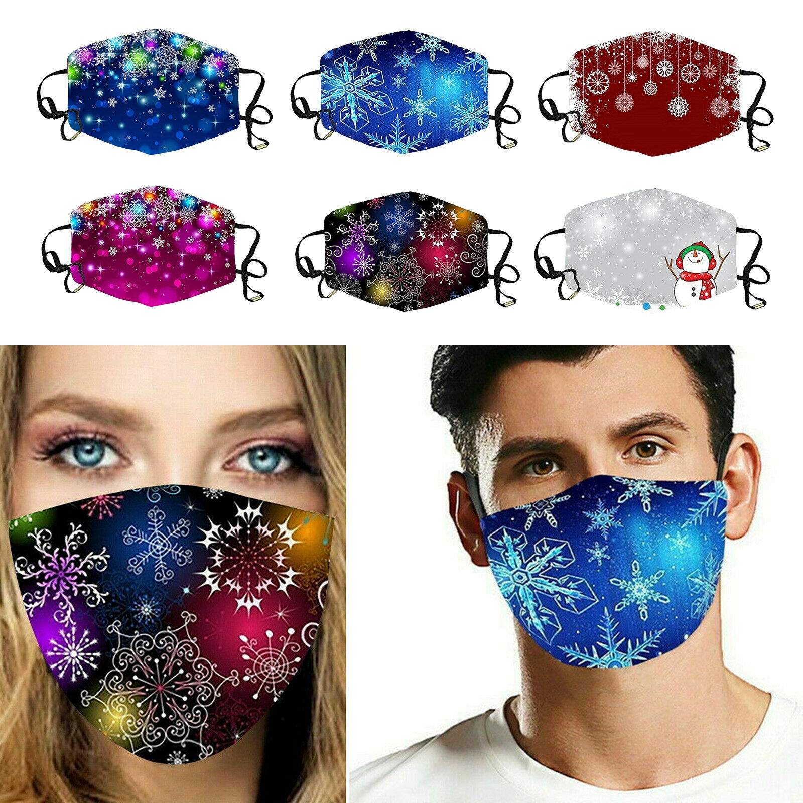 3D printing Christmas pattern face mask cover with reindeer