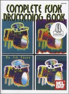 Adaptable Complete Funk Tambour Music Book With Audio Méthode Apprendre à Jouer Drum Set-afficher Le Titre D'origine Techniques Modernes