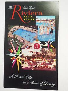 Il-Riviera-Hotel-Las-Vegas-Sovradimensionato-Cartolina-5-x-8-circa-597ms