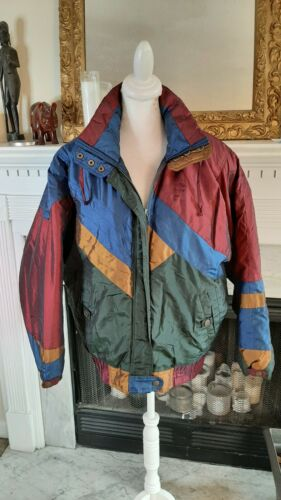 Vintage Andy Johns Color Block Puffer Jacket M