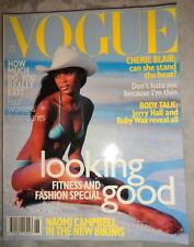 Vtg British Vogue 1996 Naomi Campbell Georgina Grenville Trish Goff Jerry Hall