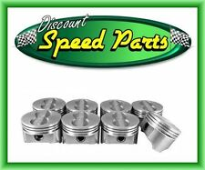 GM SBC 350 CHEVY FLAT TOP PISTONS RINGS WRIST PINS SET OF 8 ALL SIZES