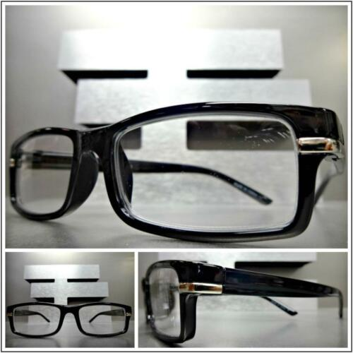 New Men's Contemporary Modern READING EYE GLASSES READERS Small Thin Black Frame