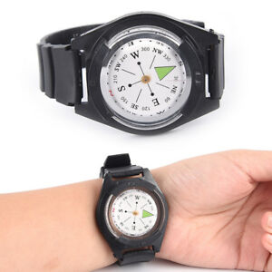 Tactical-Wrist-Compass-Special-For-Military-Outdoor-Survival-Watch-Black-Band-9H
