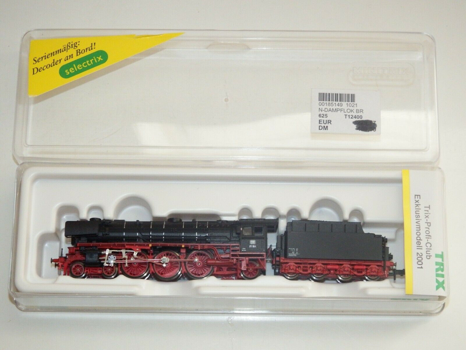 N Trix 12400 Dampflok BR 01 164  DB  Neuwertig OVP 7898