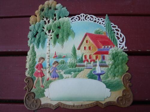 Nice Die-Cut Calendar Top Marked Germany Beautiful Colors Unused Gently Used Lar