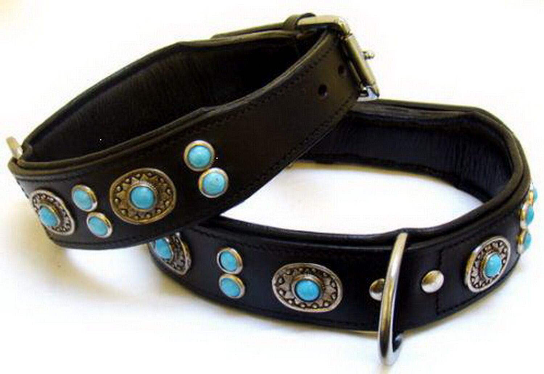 Lusso Collare Collare Collare per Cani Tipo Buffalo Cane Fatto a Mano Nero pelle di Bufalo 1a76d2