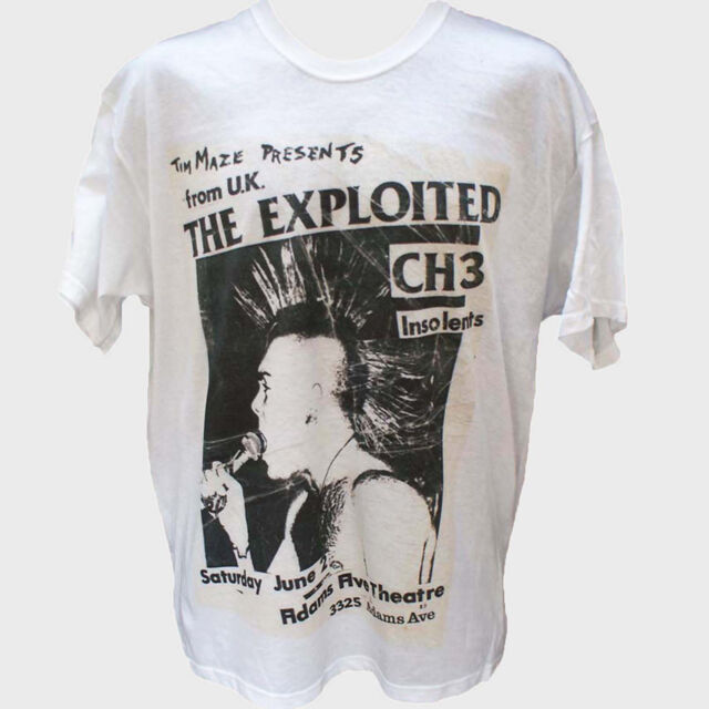 THE EXPLOITED PUNK ROCK T-SHIRT gbh uk subs crass casualties S-3XL