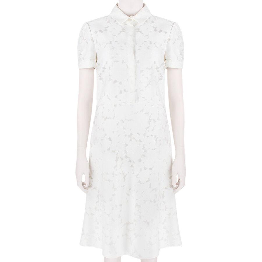 8be0675576 Valentino Elegant Ivory Cream Cotton Spring Polo Dress IT44 UK12 ...