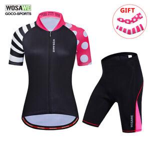 Women-039-s-Bike-Racing-Clothing-Outdoor-Cycling-Jersey-amp-Shorts-Set-Kits-Bicycle