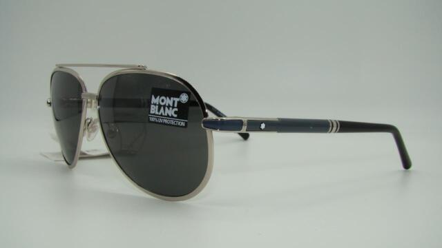 23710b8f1fd Montblanc Mb511s 16a Silver Rectangle Sunglasses for sale online