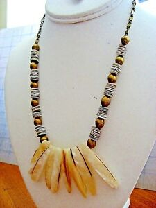 Brass /& Pearl Mermaid Necklace