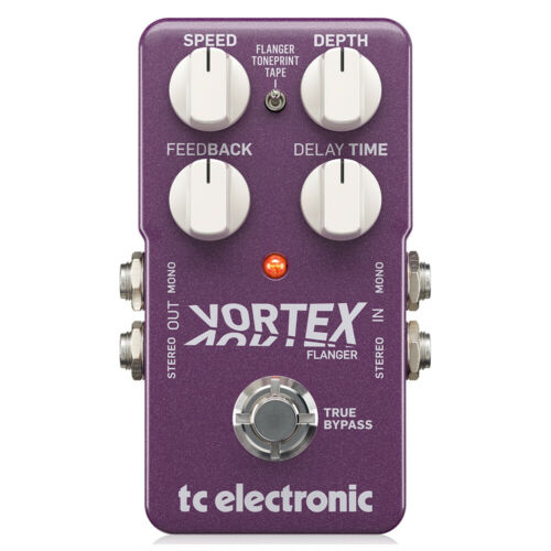 TC Electronic Vortex Flanger Stereo Guitar Effects Pedal Toneprint Enabled
