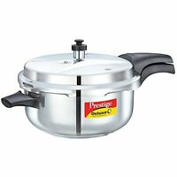 Prestige Deluxe Stainless Steel Deep Pressure Pan 5 Liters, New, Free Shipping on sale