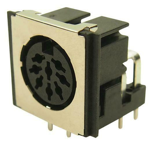 Cliff Electronic Components - FM6728 - Screened Din Socket, 8pos, Pcb
