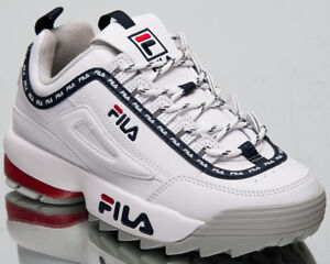 Details about Fila Disruptor Logo Low Womens White Casual Lifestyle Sneakers Shoes 1010748 1FG
