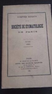 Revista Informe Ste de Estomatología XVIII 1906 París ABE