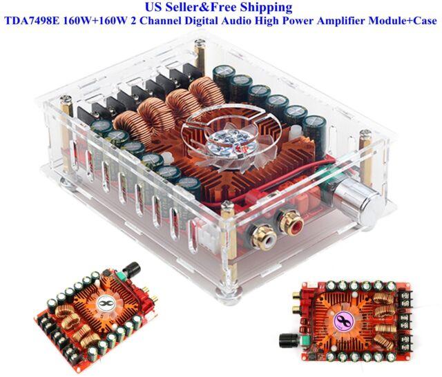 US TDA7498E 160W+160W 2 Channel Digital Audio High Power Amplifier  Module+Case