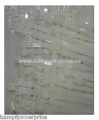 100 Stück Kabelbinder Natur 250x4,8mm     0,026€//Stück