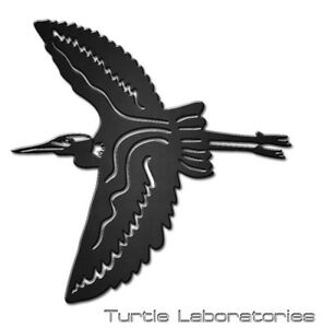 heron silhouette metal wall art hanging home decor garden stork