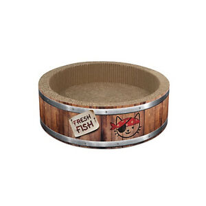 Catit-Play-Pirates-Barrel-Cat-Scratcher-with-Catnip-Small-or-Large