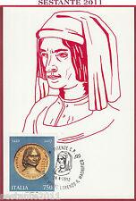 ITALIA MAXIMUM MAXI CARD LORENZO DE MEDICI IL MAGNIFICO 1992 FIRENZE C589