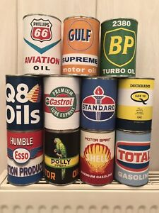 Details about Old vintage oil cans Rustic Petrol Motor Tin Can Replica  Rusty Rust Petroleum