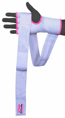 EVO Ladies MMA Gel Inner Gloves Boxing Hand Wraps Body combat martial Arts strap