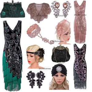 1920s-Cocktail-Dress-Vintage-Flapper-Costume-Gatsby-Wedding-Party-Layered-Tassel