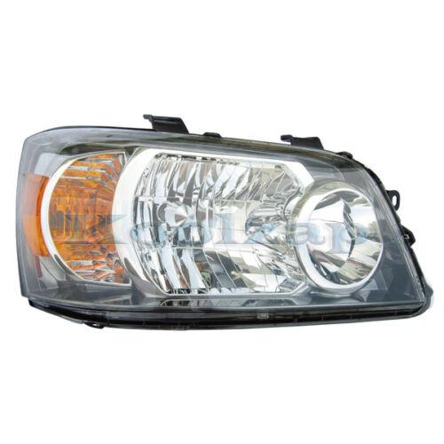 TYC For 04-06 Highlander Headlight Headlamp Front Head Light Right Passenger R