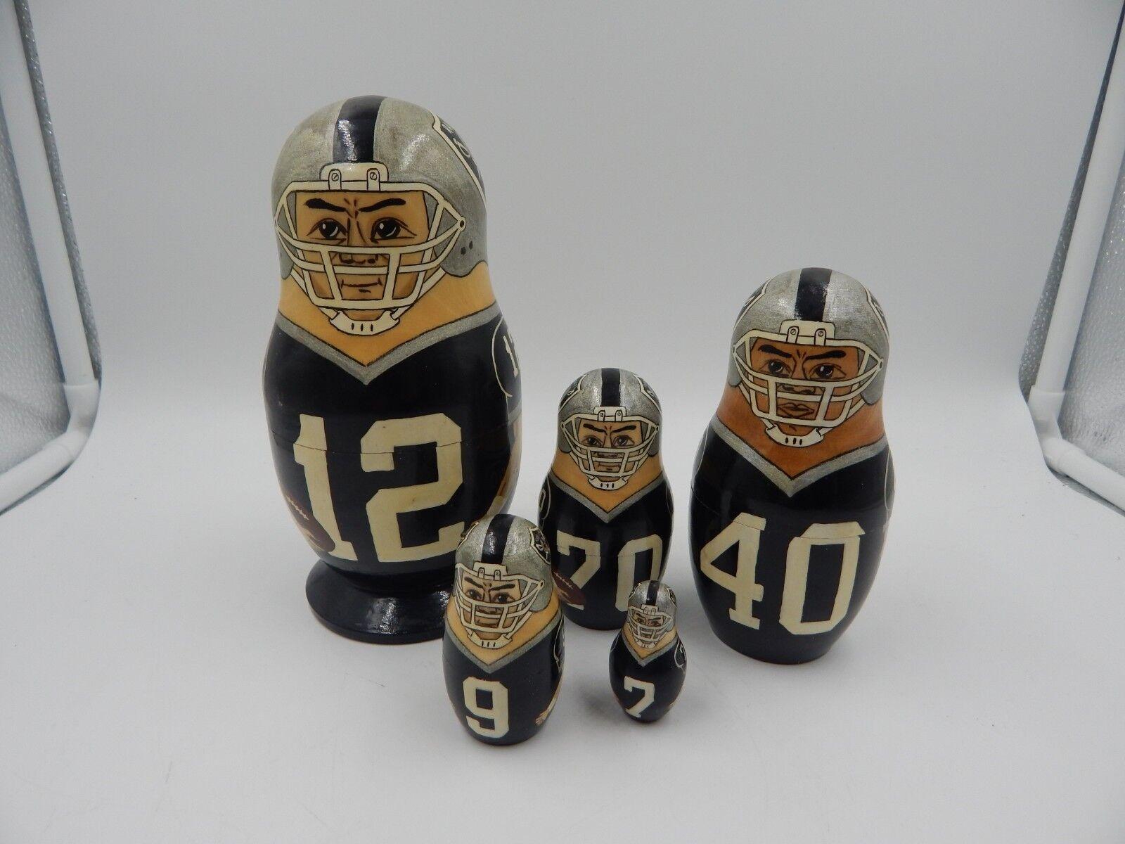 Oakland / Los Angeles Raiders Russian Nesting Doll Vintage Matryoshka Marinovich